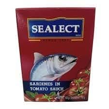 Sealect Sardines in Tomato Sauce, 100g