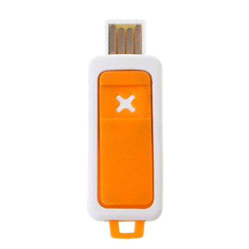 MiSha Mini portátil difusor de aceites esencialesb, Humidificador de aromaterapia USB(Naranja)