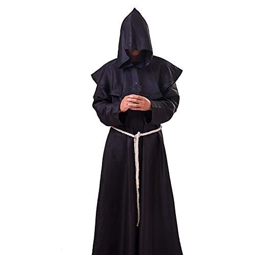 Dcola Disfraz De Halloween Sacerdote Sacerdote Hechicero