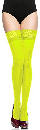 Medias amarillo fluor de microfibra