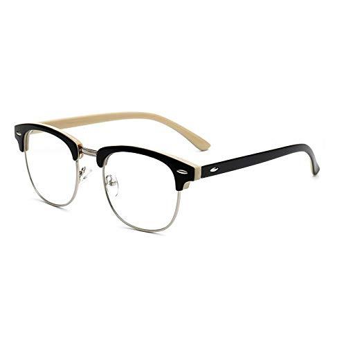 YMTP Optische Gläser Der Männer Gestalten Frauenbrillen Half-Frame Weinlese Eyewear Retro-, Gelb