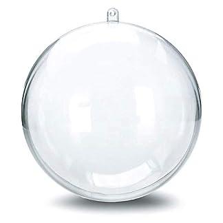 LILITRADE 20 Pcs Bola de Navidad Transparentes, Bolas Vacío Adorno de DIY Plástico Acrílico Rellenable para Llenado de Decoraciones de Árboles de Navidad Bodas Bautismo