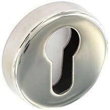 Securit acero inoxidable pulido cerradura escudos 2 x - 50 mm