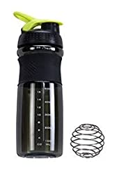 IShake Kool Sprint Shaker Bottle 700 ml (Black Body, Green Lid)