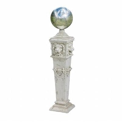 Design Toscano EU1361 Säule mit Glänzender Kugel und Löwenköpfen Garten Statue von Design Toscano auf Du und dein Garten