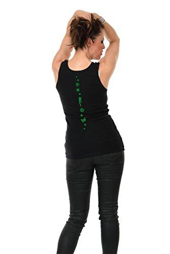 débardeur dames avec motif élément jour by 3Elfen - Top Vert