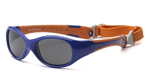 Real Kids 2EXPNVOR Explorer Kindersonnenbrille, Flexible Passform, Größe 2+, marineblau/orange