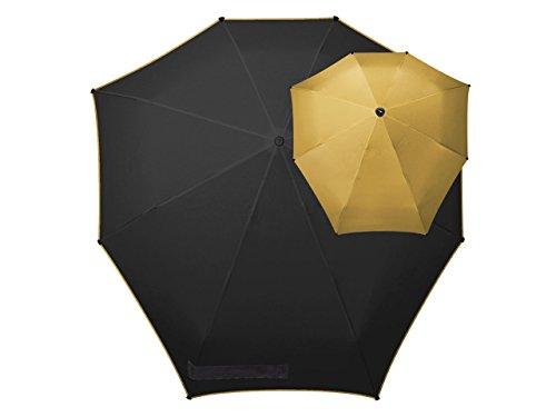Senz° Regenschirme Manuelle Klappschirme - Gold|Schwarz -