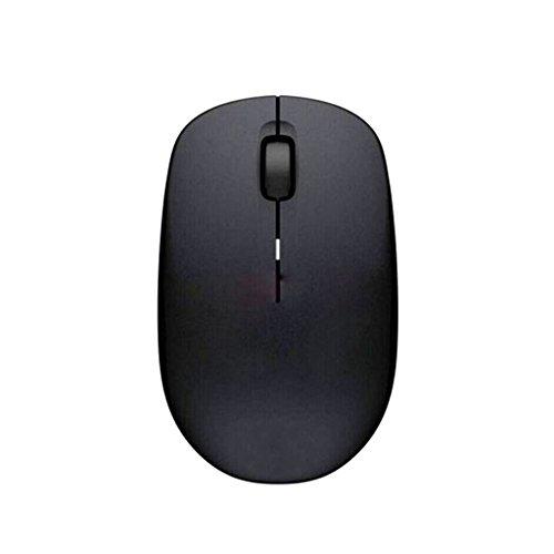 WANG Drahtlose Maus 2.4G USB bewegliche Drahtlose Mäuse Optische PC-Laptop-Computer-schnurlose Maus mit Nano-Empfänger 3 Tasten Glühen mehrfache vorhandene Farben (Farbe : Schwarz)