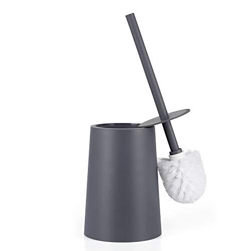 Elegante spazzolino WC in plastica Grigio mDesign Scopino Bagno con Porta scopino Scopino WC Ideale per Bagno padronale o degli Ospiti