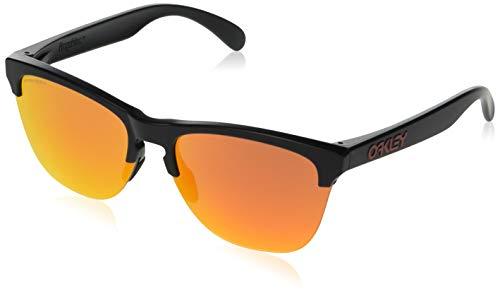Oakley Herren Frogskins Lite 937404 Sonnenbrille, Schwarz (Matte Black), 63