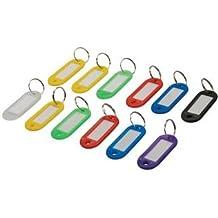 Silverline 844160 - Llaveros de colores con etiqueta identificativa, 12 pzas (12 pzas)
