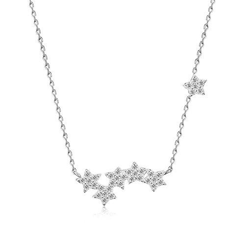 S925 einfache Silber Diamant-Halskette Damen Modeschmuck Stern , s925 silver