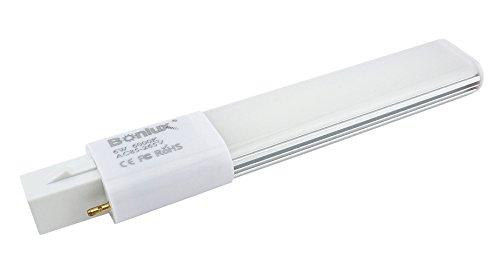 Bonlux 6W G23 2-Pin LED-Birnen Kaltweiß 6000K 180 Grad 13W Kompaktleuchtstofflampe Equivalent Horizontal Stecker G23 LED PL Retrofitlampen (Entfernen / Bypass der Ballast) (13w Stecker)