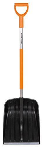 Fiskars SnowXpert Pala, Para pequeñas cantidades de nieve, Ancho: 35 cm, Negro/Naranja, 1003468