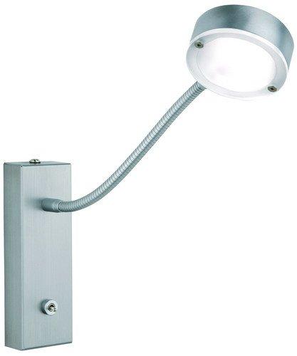 """Preisvergleich Produktbild 4, 5W LED-Wand- / Spiegelleuchte """"Saturn"""",  1er Spot mit Schalter +Flexarm,  Alu matt gebürstet"""