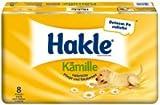 Hakle Toilettenpapier mit Kamille/45460 weiß mit gelben Dekor 3-lagig Inh.8