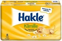 Preisvergleich Produktbild Hakle Toilettenpapier mit Kamille / 45460 weiß mit gelben Dekor 3-lagig Inh.8