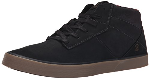 Volcom Grimm Mid 2 Shoe, Sneaker alta uomo, Nero (Schwarz (New Black)), 37-39