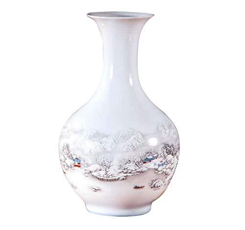 Black Temptation Weißer keramischer Vase für Hauptdekoration-Vase und Tabellen-Mittelstücke Vase, A07