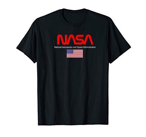 NASA Insignia Program Patch US Flag T-Shirt - Flag Grey T-shirt