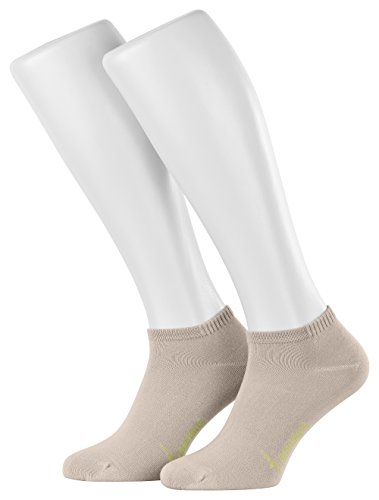 Tobeni 6 Pares de Zapatillas de Bambu Calcetines para Mujer y Hombre Color Beige Tamano 39-42