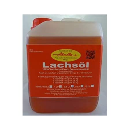 Horse-Direkt Premium Lachsöl 5 Liter Kanister Für Hunde & Katzen – Kaltgepresst Ohne Zusatz, Fischöl Mit Omega 3 und…