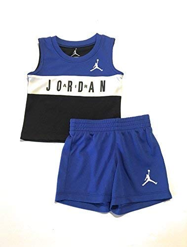 Jordan Air Infant Boys Colorblocked Tank Top and Shorts Set Hyper Royal 24 Months