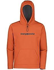 Trango Login - Sudadera para hombre, color naranja oscuro/gris medio, talla M