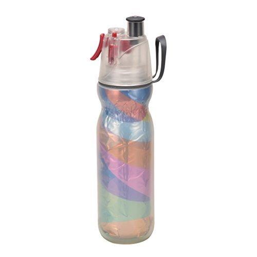 Qshare - Spray Mist Drückflasche, isolierende Trinken & Zerstäubung Sport Wasserflasche mit Mist Sprayer, Outdoor-Sport-Trink, BPA Frei, 590ml (Ziehen 590)