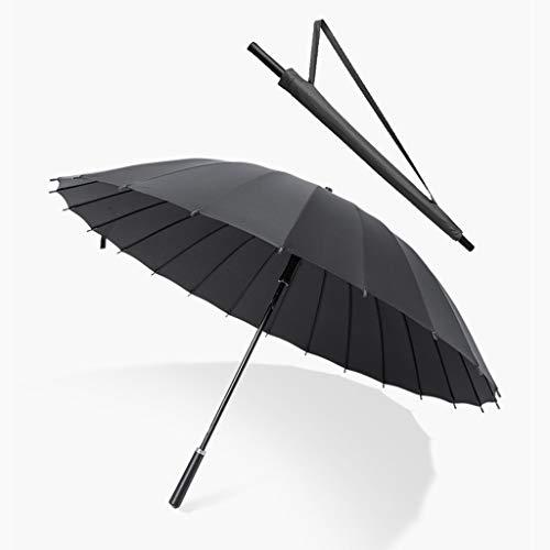 Nvfshreu Regenschirm Schoolgirls Kompakter Robuster Winddichter Reiseschirm Der Große Langstielige Werbeschirme Einfacher Stil (Gelb Pink Blau Schwarz) Automatisch EIN Und Ausschaltet Huacng (