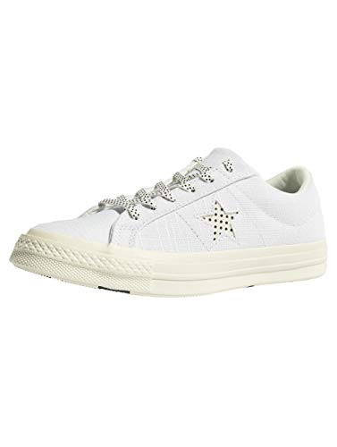 Converse Damen Cons One Star Ox Sneaker Weiß/Schwarz, 39.5 EU (Converse Star Skate Schuhe One)