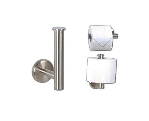 Toilettenpapierhalter Reserve Edelstahl matt Badzubehör -