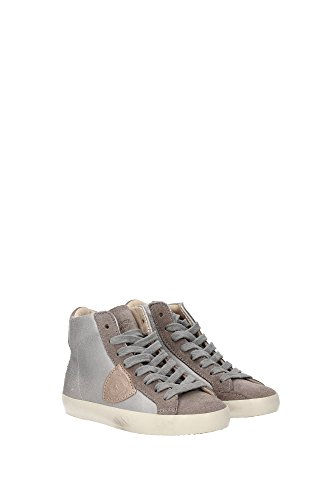 CLH0M21 Philippe Model Sneakers Kind Wildleder Silber Silber