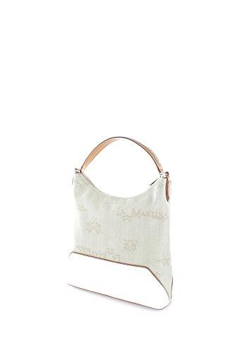 La Martina Borsa Donna Lady Hobo Bag Lady Beige/White Muy En Línea bjIuhks