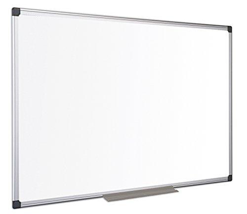 Bi-Office Maya - Pizarra magnética con marco de aluminio, color blanco, color blanco 200 x 100 cm