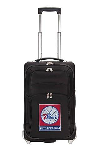 NBA Philadelphia 76ers Denco 21-Inch Carry On Luggage, Black