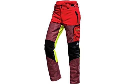 WÜRTH MODYF AX-Men Defender Pro Schnittschutz Bundhose : Die solide Hose ist in der Größe L erhältlich. Robust mit TOP Tragekomfort & in rot (Beinlänge 75 cm) verfügbar. Die Hose für alle Profis!