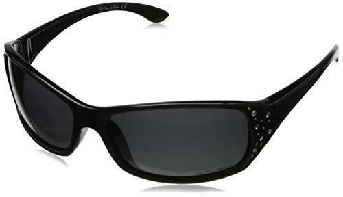 Hornz hz serie elettra - da donna premio polarizzati degli occhiali da sole mezzanotte cornice nera - fumo lente scura