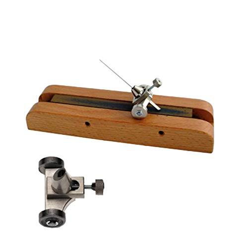 BERGEON Schleifwerkzeug für Stichel - Zum Anschleifen des Stichels von Hand - EIN wichtiges Werkzeug für UHRMACHER - Anwendung mit Holzsockel und Indiastein - C4546077