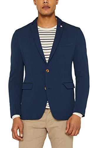 ESPRIT Herren 039EE2G006 Blazer, Blau (Dark Blue 405), (Herstellergröße: 48)