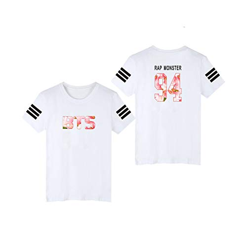 BTS T-Shirt Frauen/Männer Fans Unterstützung Kurzarm O-Neck Tee Tops white3a XL Irish Womens Zip Hoodie