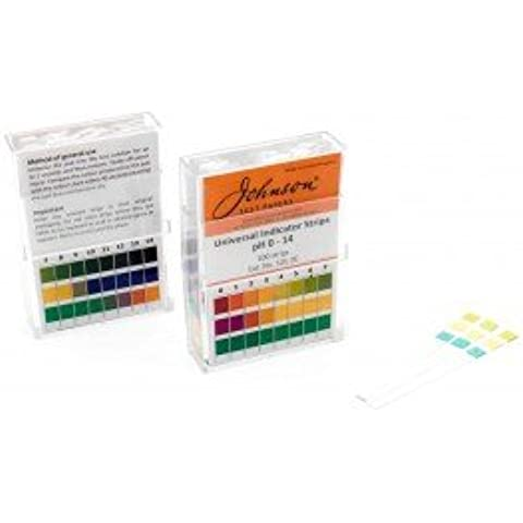 JOHNSON UNIVERSALE pH INDICATORE STRISCE 0-14 NON BLEED