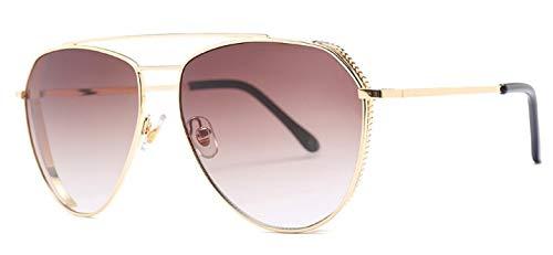 LKVNHP SommerOzean rosa Farbeblind trendySonnenbrille Frauen Metall Anti-Glare VisionPilot Sonnenbrille männer Marke wtyj170 braun
