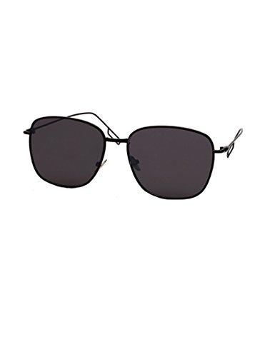 Persönlichkeit Spiegel Reflektierende Sonnenbrille Metall Kleine Quadrat Plane Linse Sonnenbrille ( Farbe : 3 )