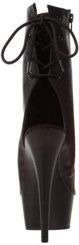 Pleaser Delight-1018, Bottines Classiques Femme Noir (Blk Faux Leather/Blk)