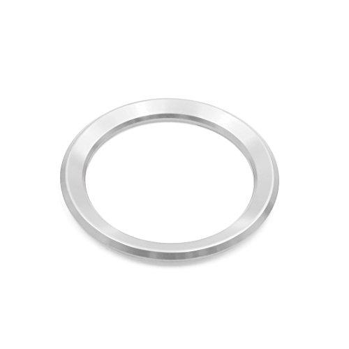 sourcing map Lenkrad Emblem Verkleidung Dekoration dekorativer Ring für 58mm Dmr. silbern DE