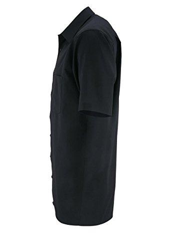 OLYMP - Camicia da uomo Comfort fit, a maniche corte Nero