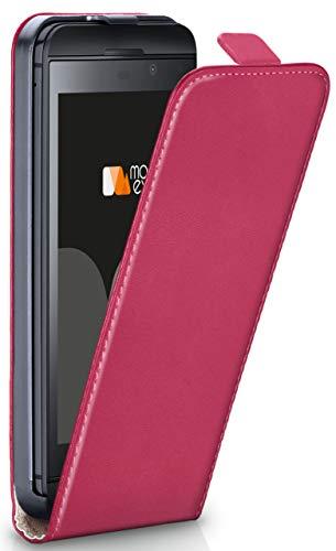 moex® Flip Case mit Magnetverschluss [Rundum-Schutz] passend für BlackBerry Z30 | 360° Handycover aus feinem Premium Kunst-Leder, Pink 360 Blackberry