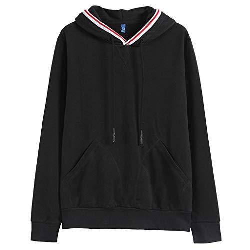 Dorical Herren Herbst Winter Sweatshirt Classics Kapuzenpullover Hoodie, Streetwear Hoody, mit Känguru-Tasche und Kapuze mit Tunnelzug Pullover Hochwertige Kleidung für Männer Sale(Schwarz,XX-Large)